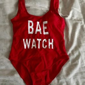 """Other - Cute """"bae watch"""" bathing suit"""